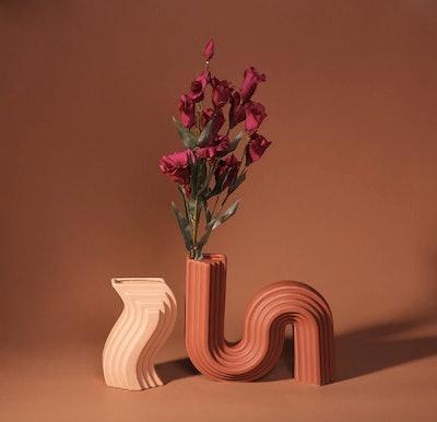 Ceramic S-Shaped Vase