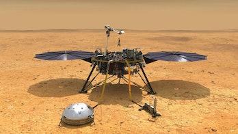 A NASA illustration of the InSight lander.