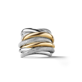 Eternity Highway Ring With 18k Gold
