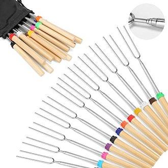 Hadoife Marshmallow Roasting Sticks (Set of 12)