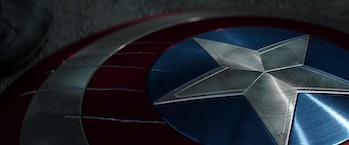 Scratched shield in Captain America: Civil War