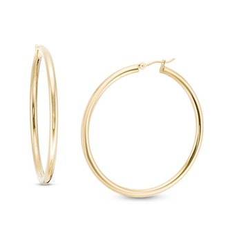 3.0 x 50.0mm Hoop Earrings in 14K Gold