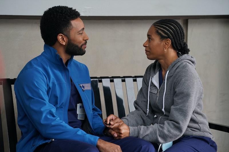 Anthony Hill as Winston Ndugu & Kelly McCreary as Maggie Pierce in 'Grey's Anatomy' Season 17 via AB...
