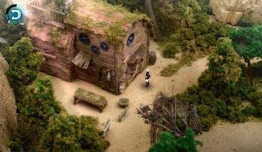 Fantasian cabin diorama