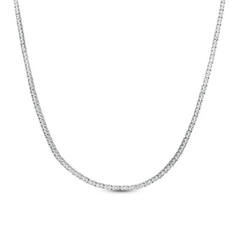 """Lab-Created White Sapphire Tennis Necklace in Sterling Silver - 24"""""""