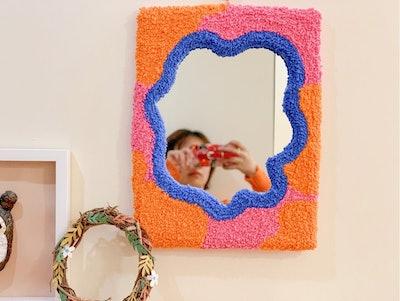 Plush Wall Mirror