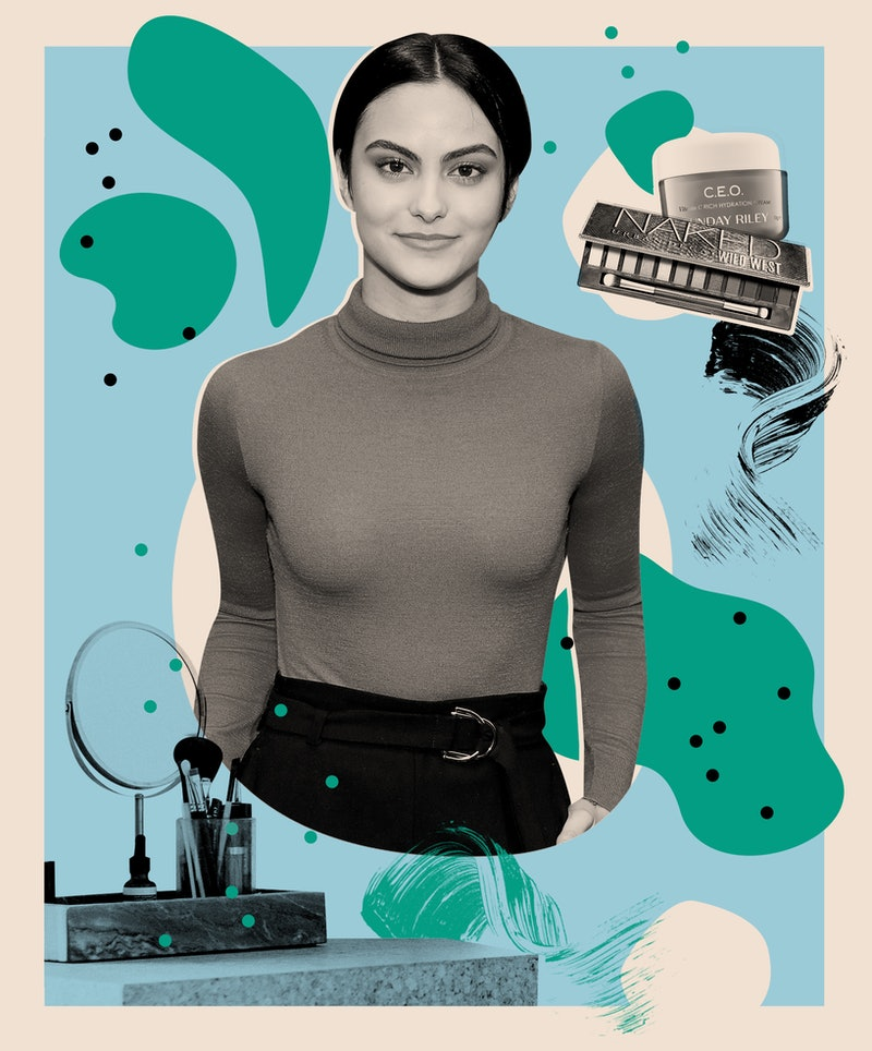 Camila Mendes reveals her go-to skin care and makeup products.