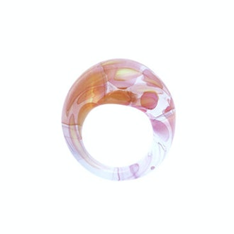 Gold Fumed Glass Ring