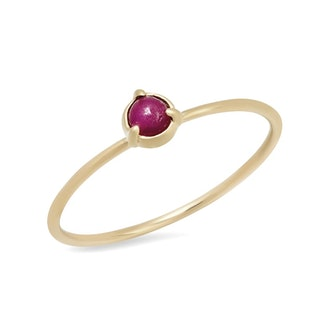 Elliot Young Ruby Solitaire Ring in 14K Gold