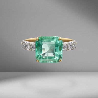 Emerald & Diamond Tennis Ring