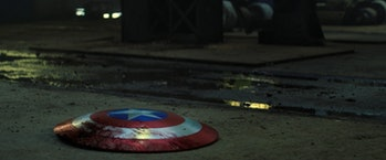 Bloody Captain America shield in The Falcon and the Winter Soldier Episode 5