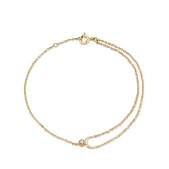 Dainty Pearl Arch Bracelet
