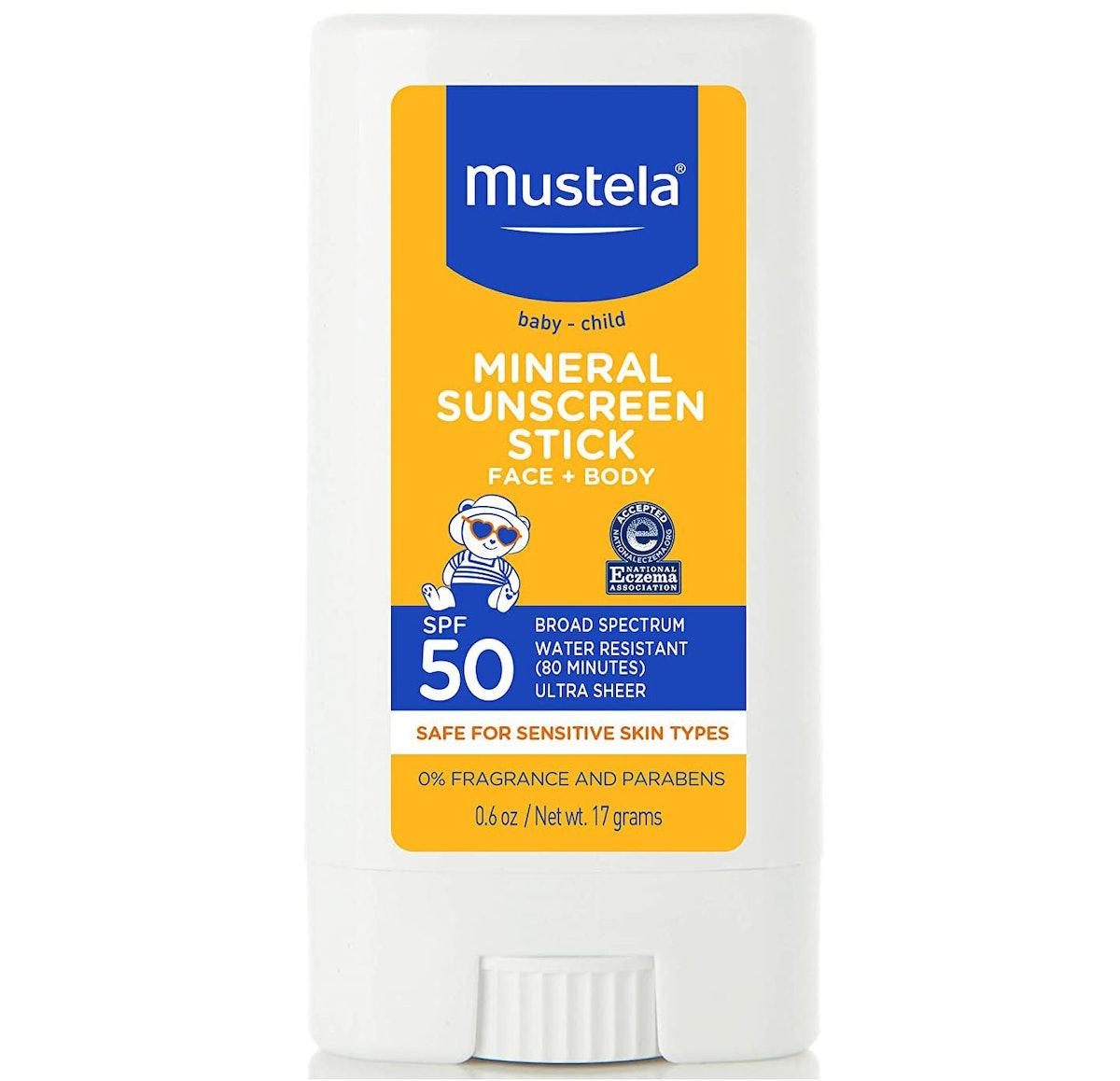 Mustela SPF 50 Mineral Sunscreen Stick