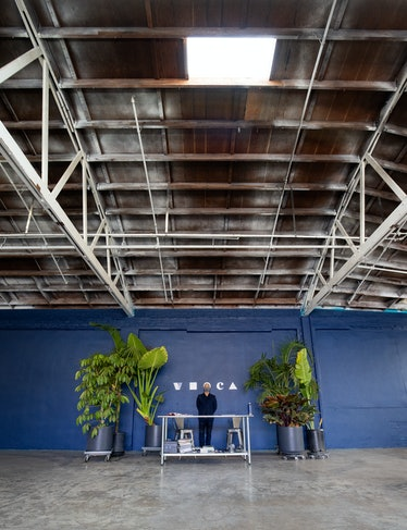 Klaus Biesenbach in his Los Angeles home, a converted warehouse where he produces his video series f...