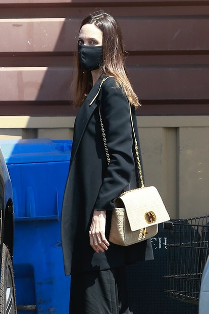 Angelina Jolie and her daughter Vivienne go shopping for flowers together in Los Feliz.