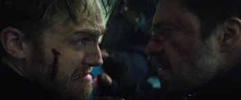 John Walker and Bucky Barnes fight in The Falcon and the Winter Soldier Episode 5