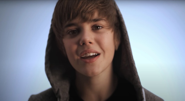 "A still from Justin Bieber's ""One Time"" music video."