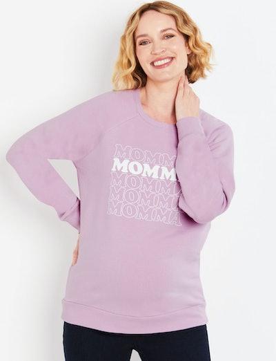 Momma Long Sleeve Maternity Graphic Sweatshirt