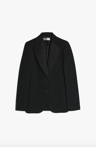 Patch Pocket Tuxedo Jacket In Black