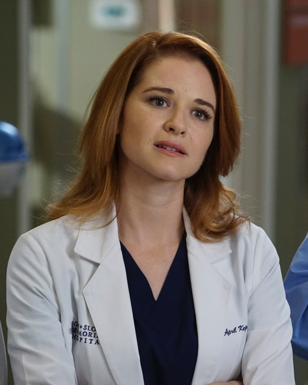 Sarah Drew as April Kepner in Grey's Anatomy.
