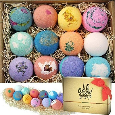 LifeAround2Angels Bath Bombs Gift (Set of 12)