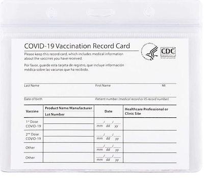 mljsh Vaccination Card Protectors (2-Pack)