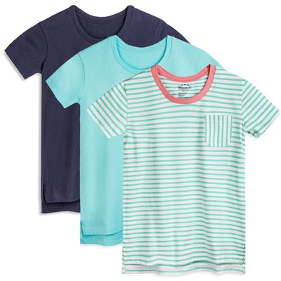 Shades of Blue Scoop Neck T-Shirt 3-Pack