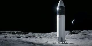 SpaceX concept art for lunar lander