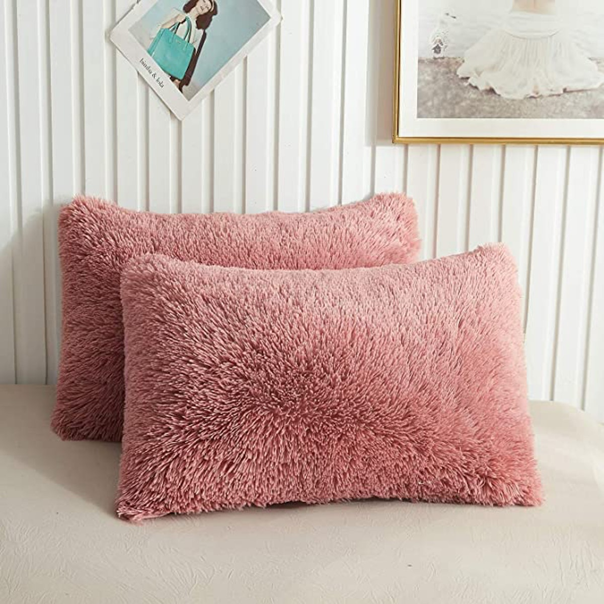 XeGe Faux Fur Throw Pillow Cases