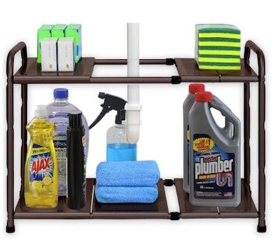 Under Sink Expandable Shelf Rack