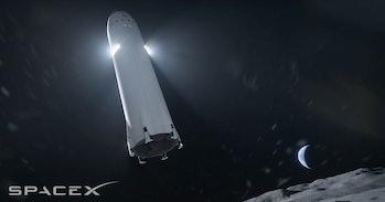 SpaceX's lunar lander in action.