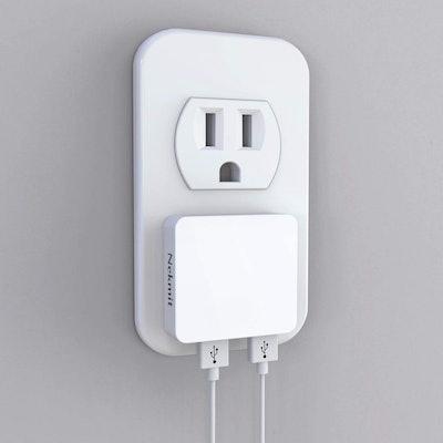 Nekmit Dual Port Ultra Thin Flat USB Wall Charger