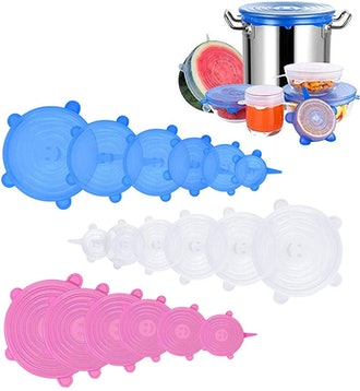 Firsting Reusable Silicone Stretch Lids (18-Pack)