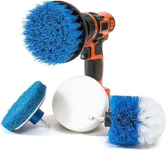 RevoClean Scrub Brush Power Drill Attachments (4-Piece)