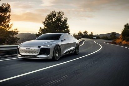 A concept rendering of Audi's A6 e-tron electric vehicle. EV. Electric. Electric cars. Electric vehicle.
