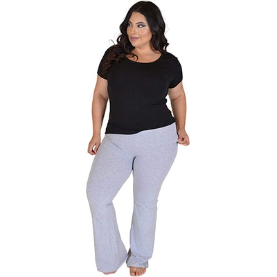 Stretch Is Comfort Foldover Plus Size Yoga Pants