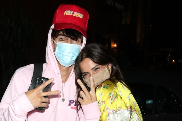 LOS ANGELES, CA - JULY 27:  Bryce Hall and Addison Rae are seen on July 27, 2020 in Los Angeles, California.  (Photo by Wil R/Star Max/GC Images)
