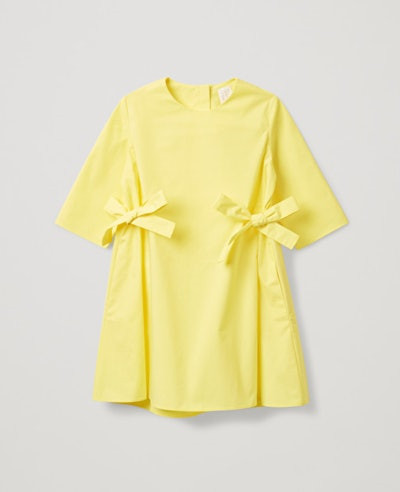 Side Tie Dress in Yellow