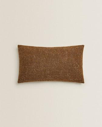Flecked Wool Throw Pillow