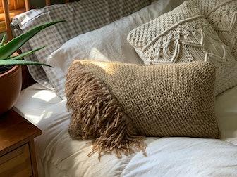 Boho Fringe Tassel Decorative Throw Pillow