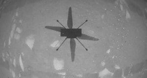 NASA Ingenuity during its flight.