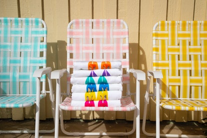 beach chairs towels  SJP Collection and The Novogratz