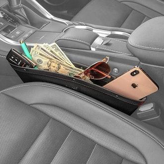 Lusso Gear 2-in-1 Car Seat Gap Organizer