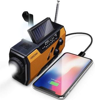FosPower Emergency Solar Hand Crank AM/FM Radio