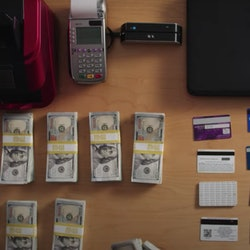 Fake credit cards in HBO's 'Generation Hustle.'