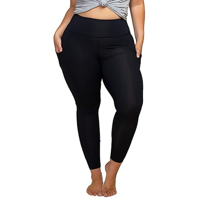 KQUZO Plus-Size 7/8 Workout Leggings With Pockets