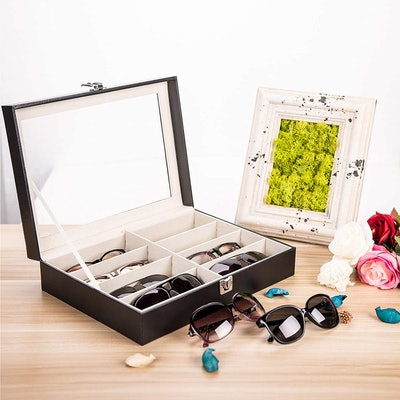 CO-Z Leather Multi Sunglasses Organizer