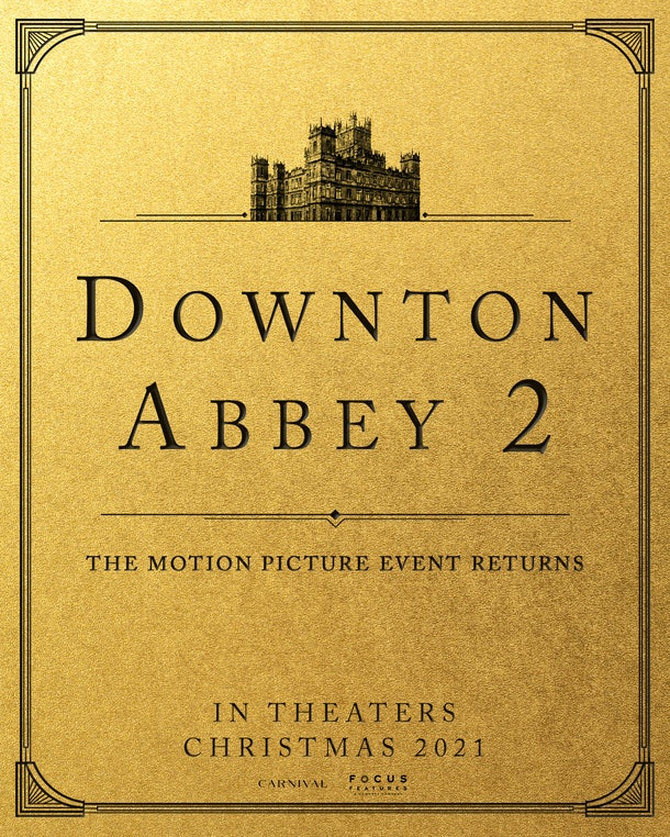 The Downton Abbey 2 announcement card