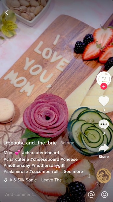 A Mother's Day charcuterie board on TikTok