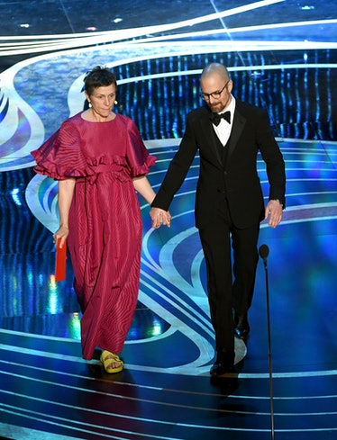 Frances McDormand and Sam Rockwell on stage